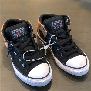 Boys black & brown Converse All Star sneakers